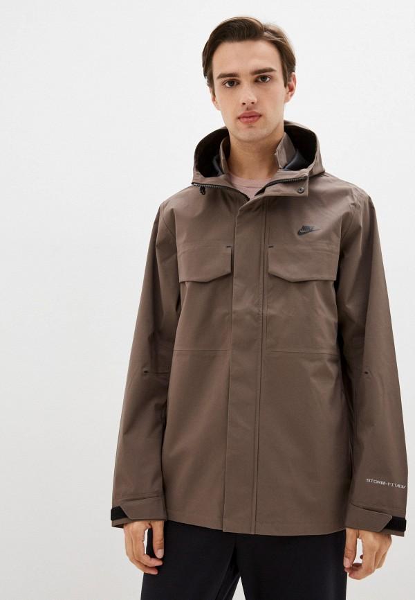 мужская куртка nike, коричневая