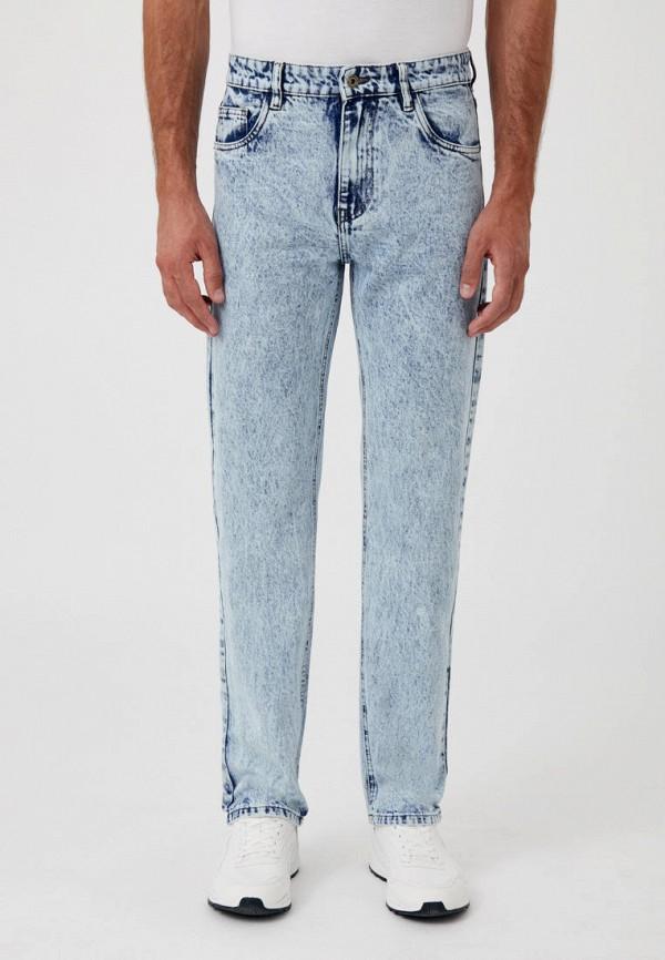 мужские зауженные джинсы finn flare, голубые
