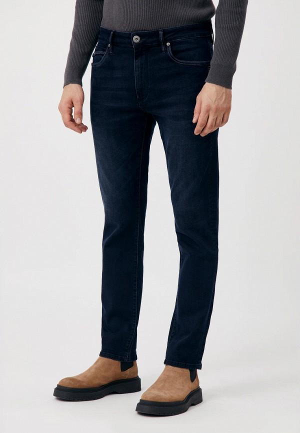 мужские зауженные джинсы finn flare, синие