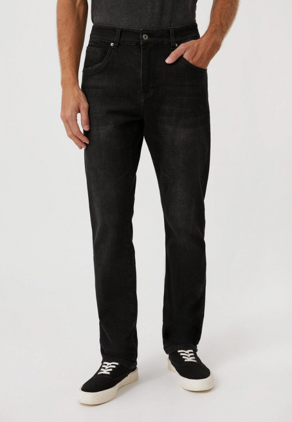 мужские прямые джинсы finn flare, черные