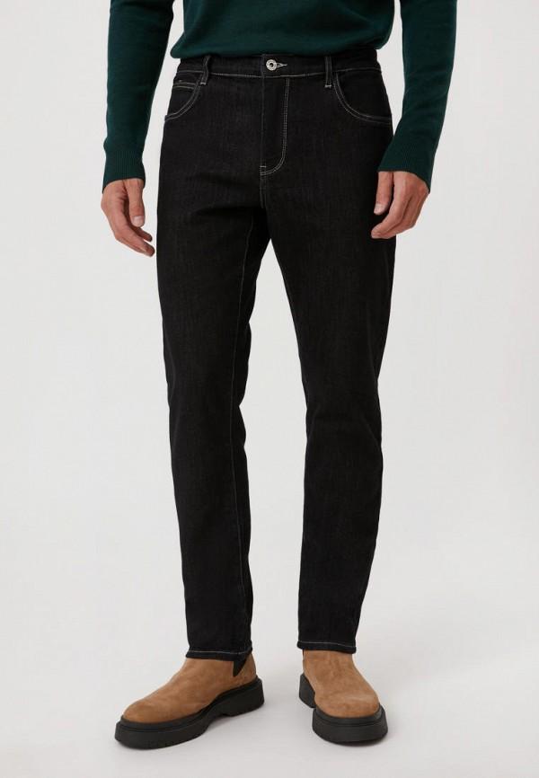 мужские зауженные джинсы finn flare, черные