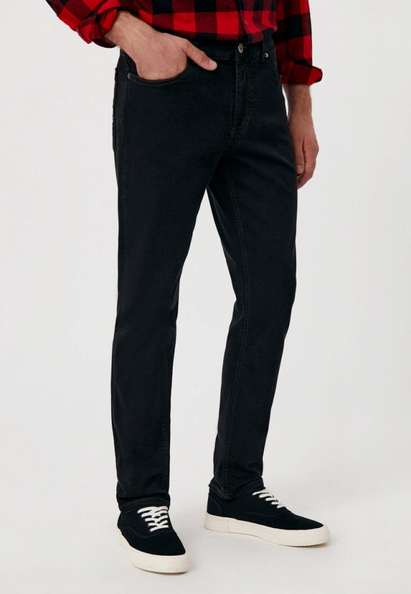 мужские зауженные джинсы finn flare, серые
