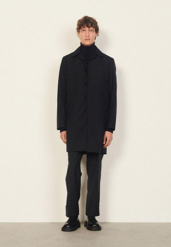 мужское пальто sandro, синее