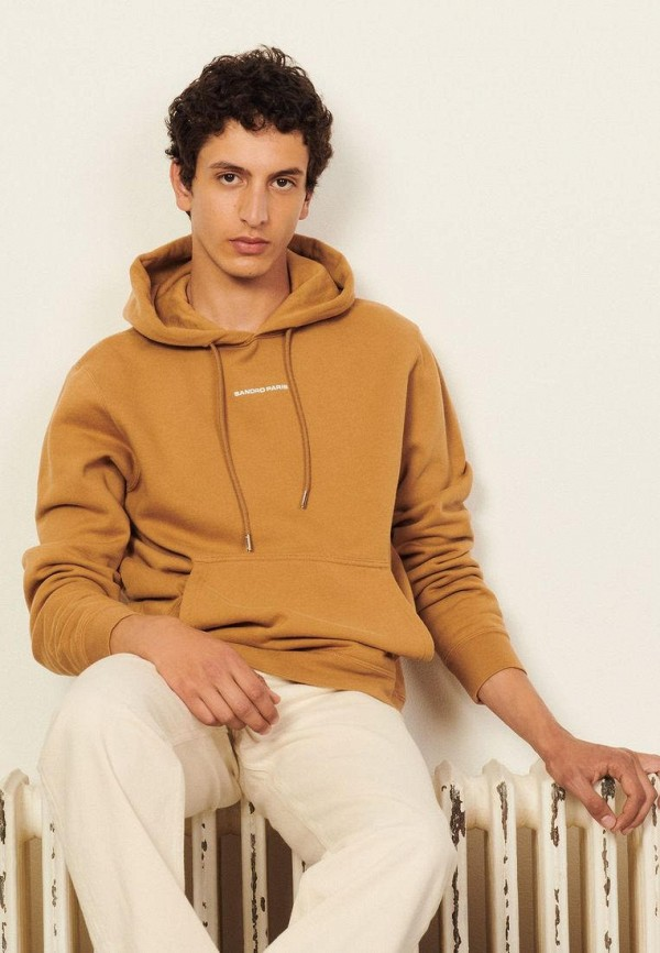 мужские худи sandro, коричневые