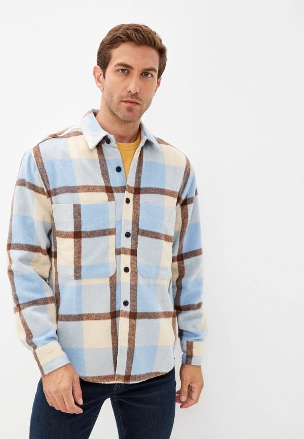 мужская рубашка с длинным рукавом befree, голубая