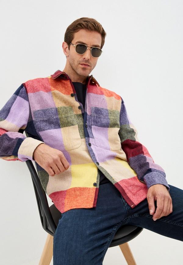 мужская рубашка с длинным рукавом befree, разноцветная