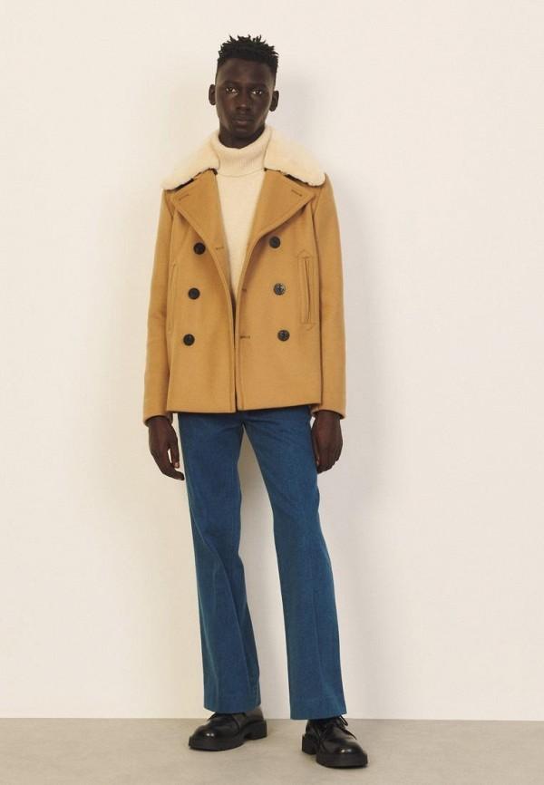 мужское пальто sandro, бежевое