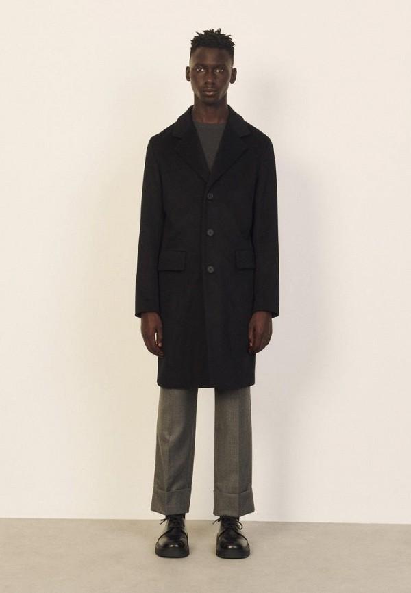 мужское пальто sandro, черное