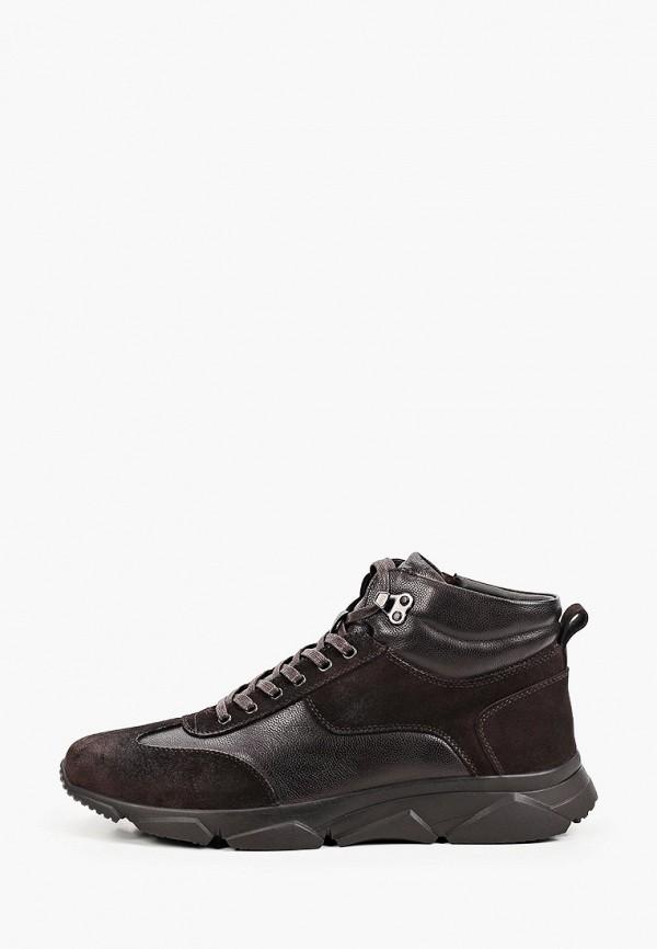 мужские высокие кроссовки mascotte, коричневые