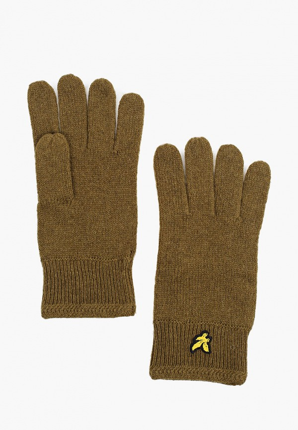 мужские текстильные перчатки lyle & scott, хаки