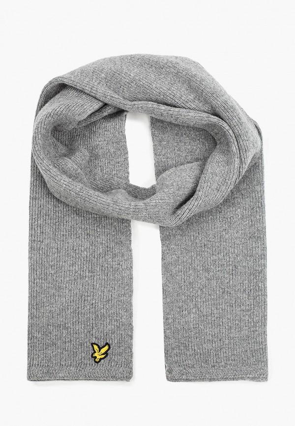 мужской шарф lyle & scott, серый