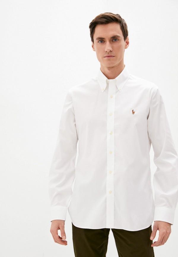 мужская рубашка с длинным рукавом polo ralph lauren, белая