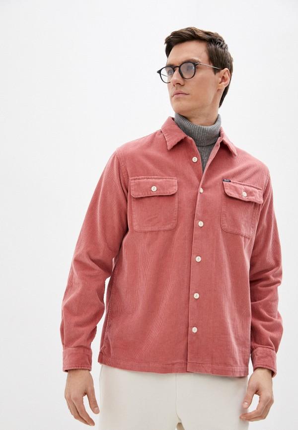 мужская рубашка с длинным рукавом polo ralph lauren, розовая