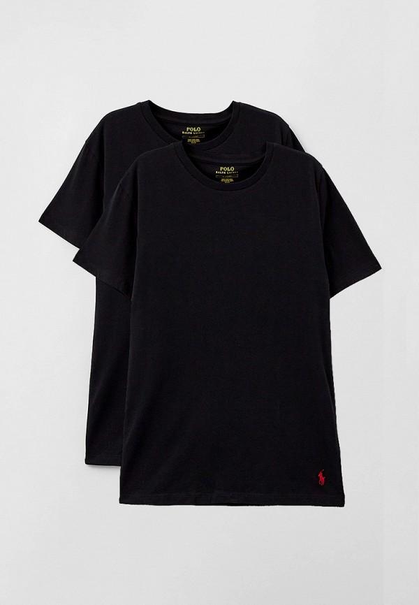 мужская футболка с коротким рукавом polo ralph lauren, черная