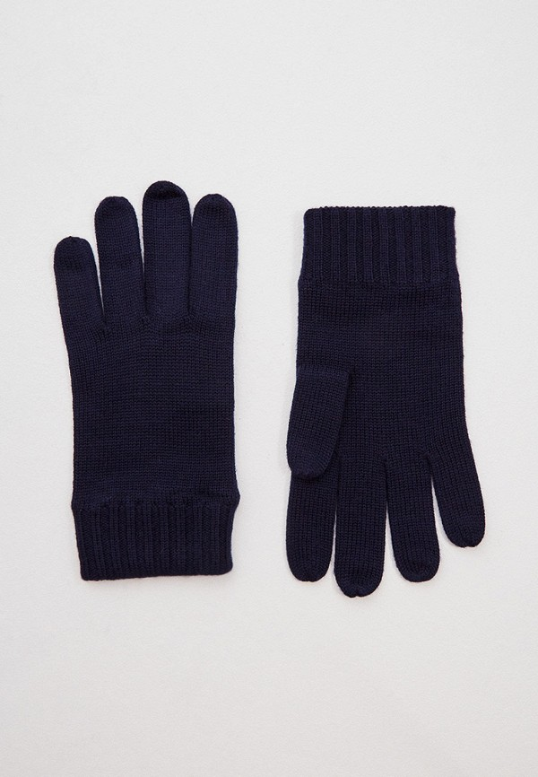 мужские текстильные перчатки polo ralph lauren, синие