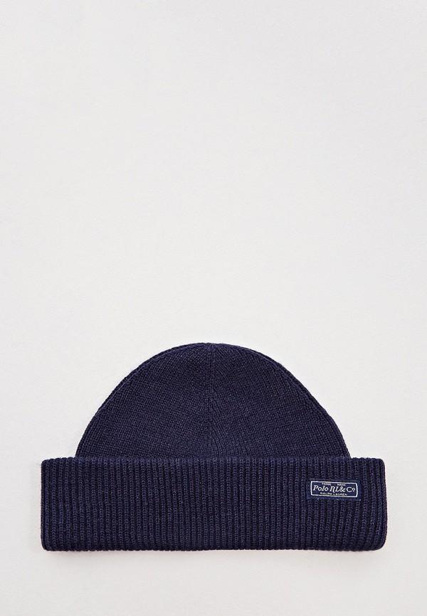 мужская шапка polo ralph lauren, синяя