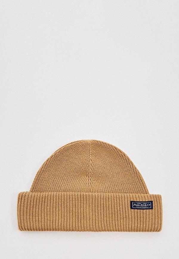 мужская шапка polo ralph lauren, бежевая