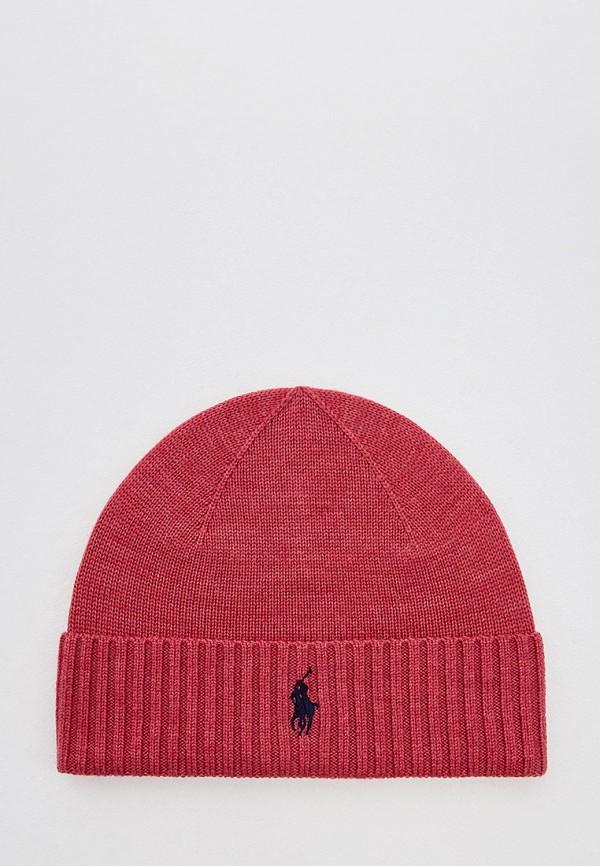 мужская шапка polo ralph lauren, красная