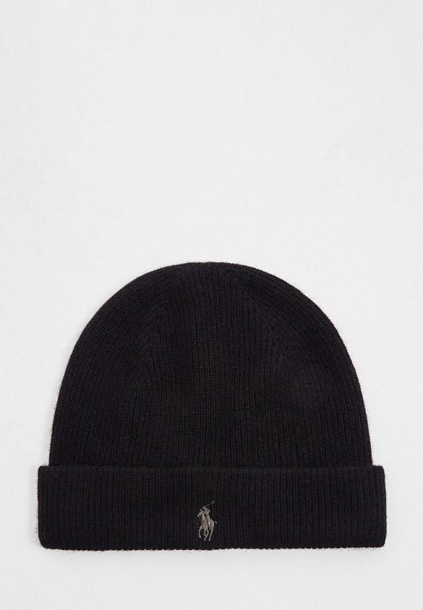 мужская шапка polo ralph lauren, черная