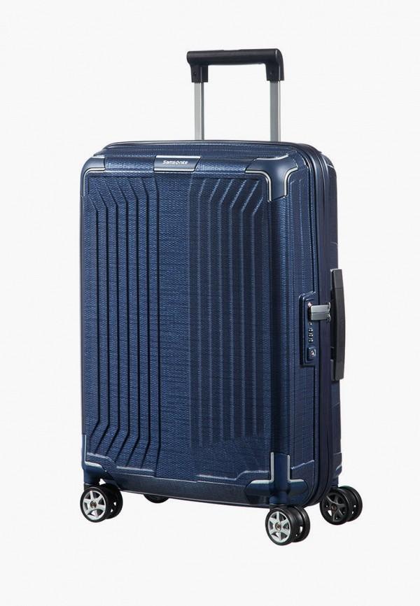 мужской чемодан samsonite, синий