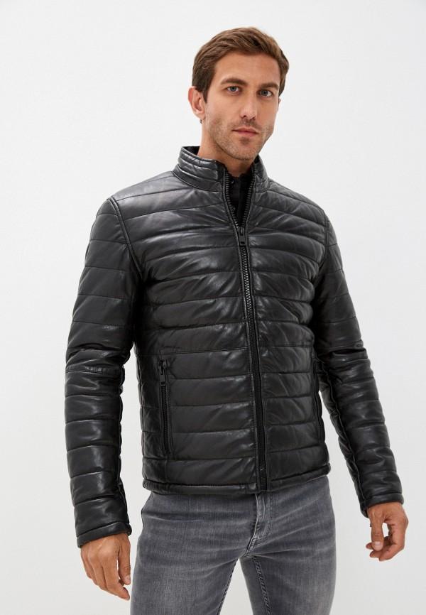 мужская кожаные куртка urban fashion for men, черная