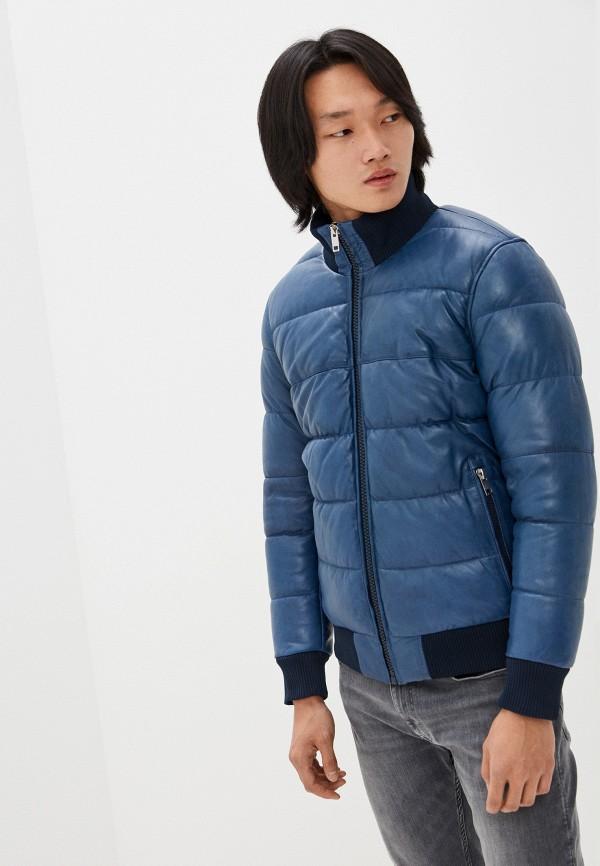 мужская кожаные куртка urban fashion for men, синяя