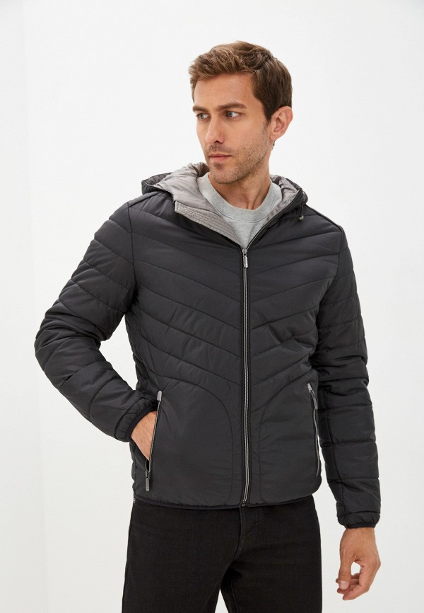 мужская утепленные куртка urban fashion for men, черная