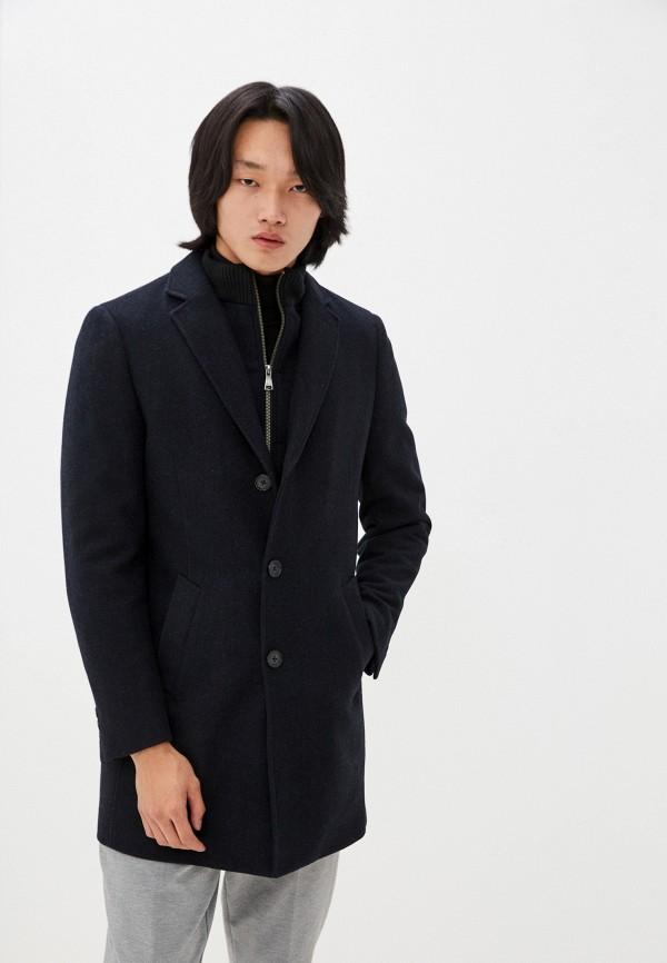 мужское пальто al franco, синее