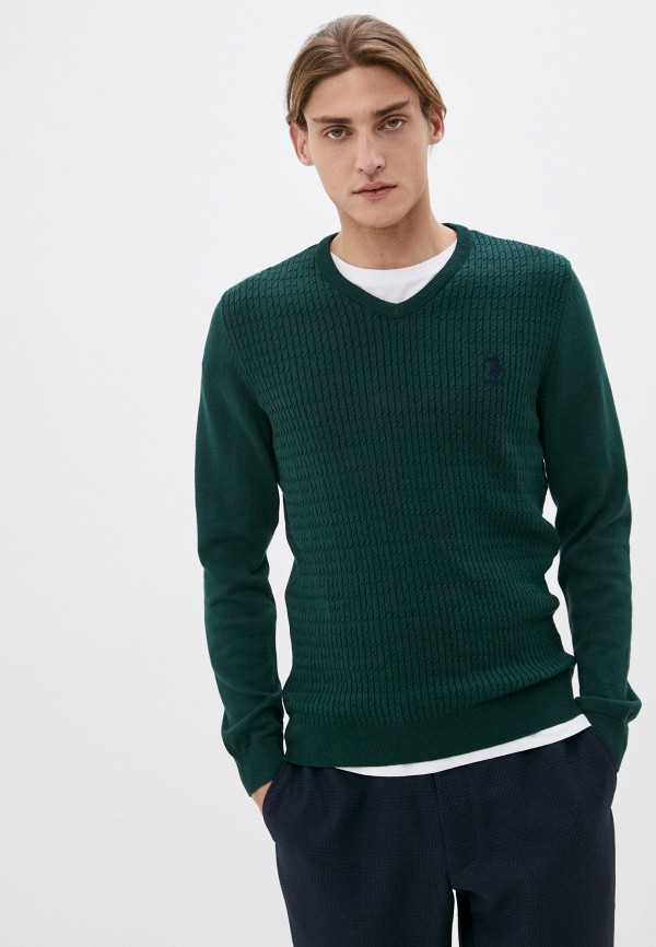 мужской пуловер u.s. polo assn, зеленый