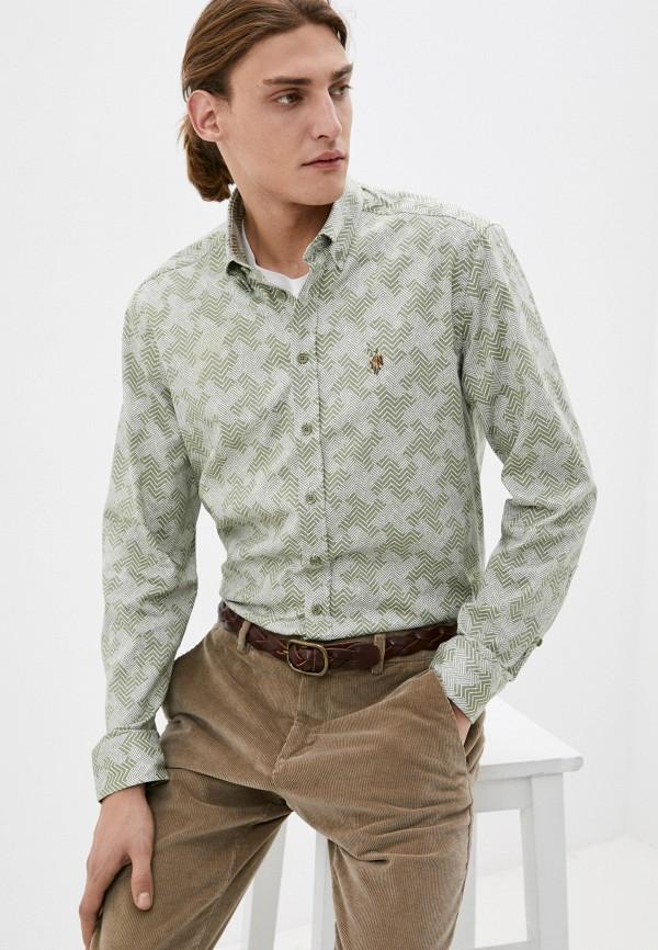 мужская рубашка с длинным рукавом u.s. polo assn, хаки