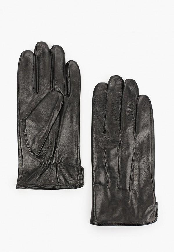 мужские кожаные перчатки vitacci, черные