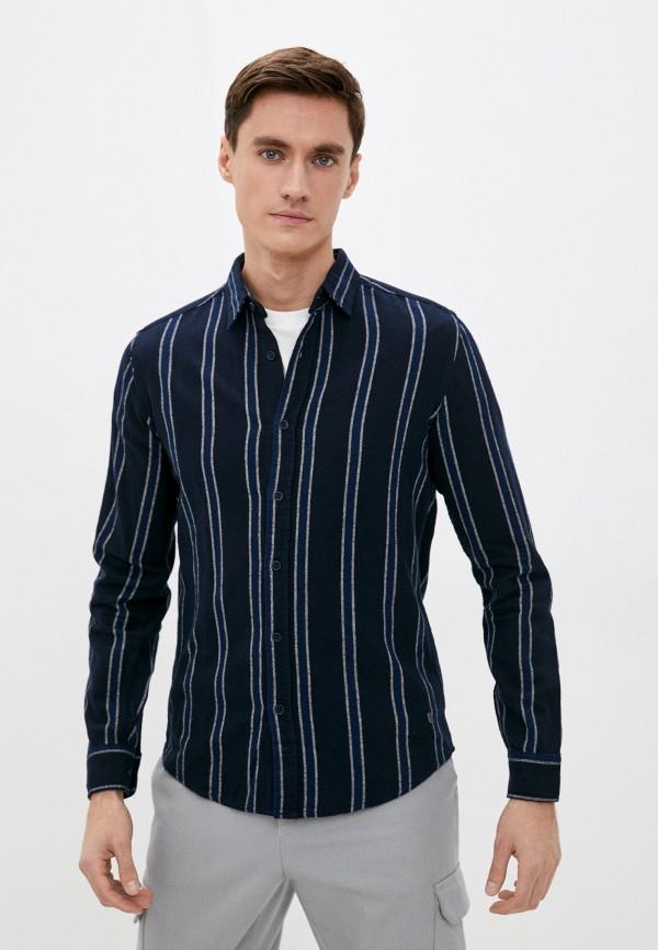 мужская рубашка с длинным рукавом colin's, черная