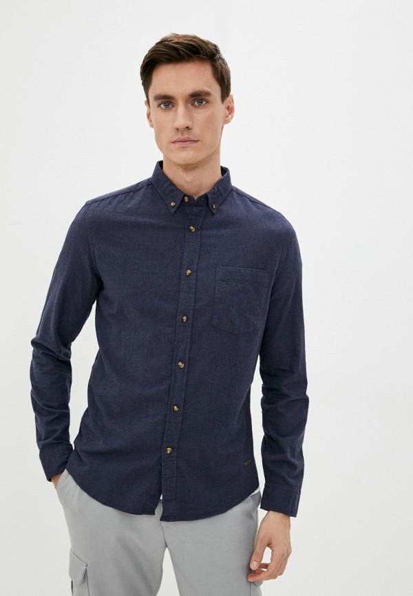 мужская рубашка с длинным рукавом colin's, синяя