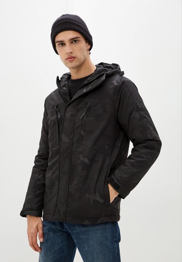 мужская утепленные куртка colin's, черная