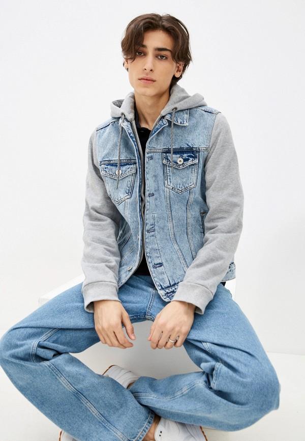 мужская джинсовые куртка colin's, голубая