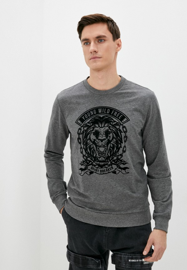мужской свитшот colin's, серый