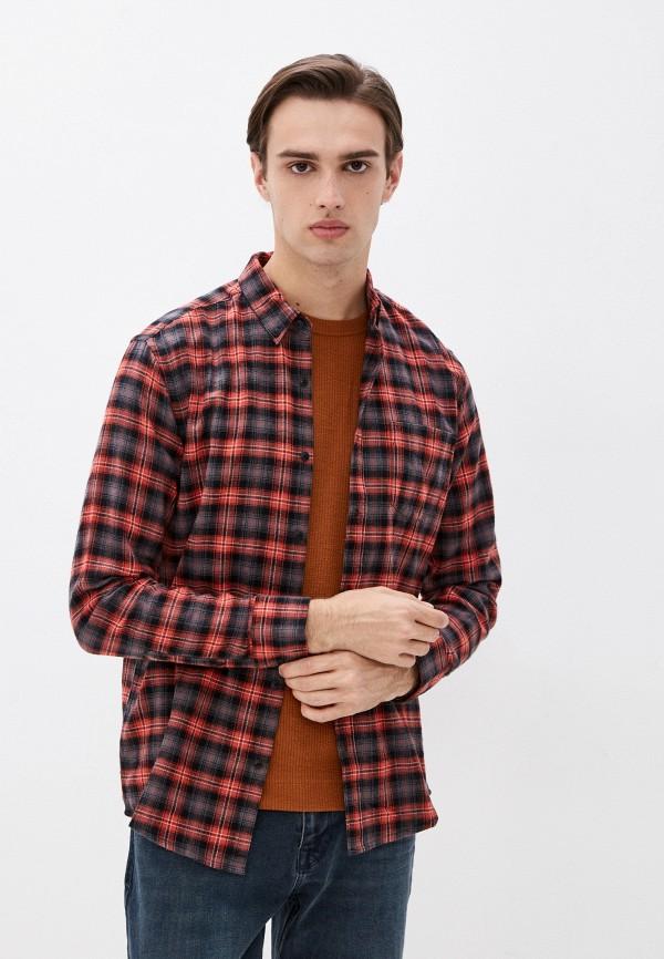 мужская рубашка с длинным рукавом colin's, красная