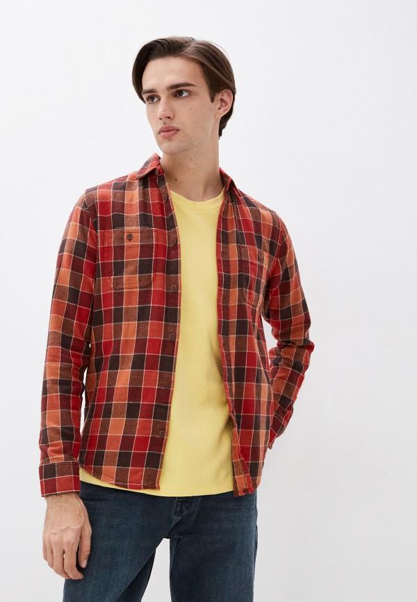 мужская рубашка с длинным рукавом colin's, коричневая
