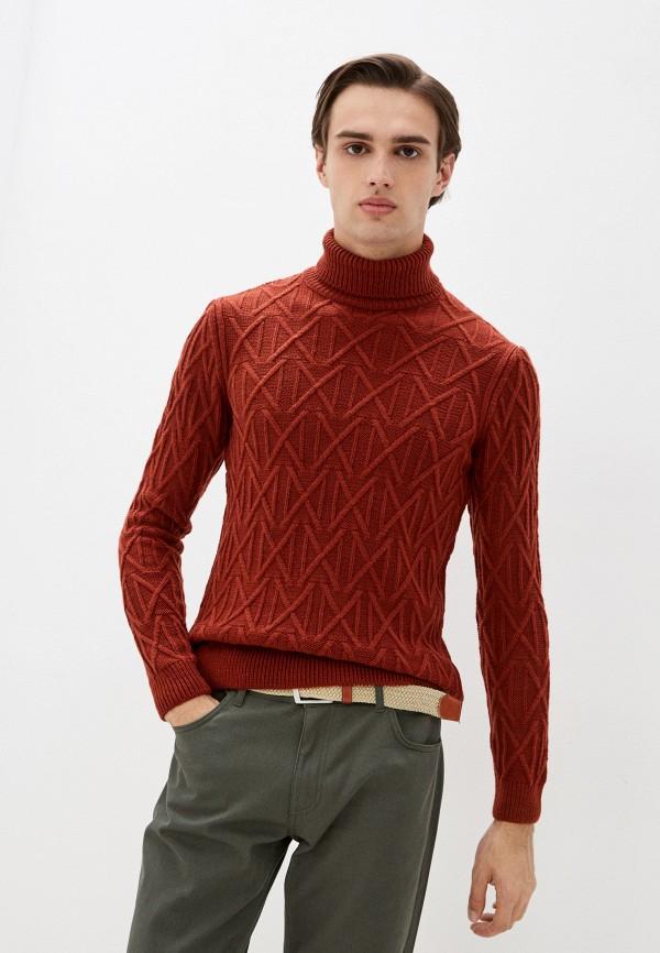 мужской свитер colin's, коричневый
