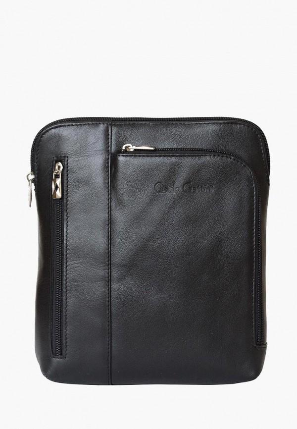 мужская сумка carlo gattini, черная
