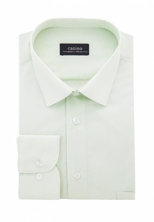 Фото 4 - Мужскую рубашку Casino зеленого цвета