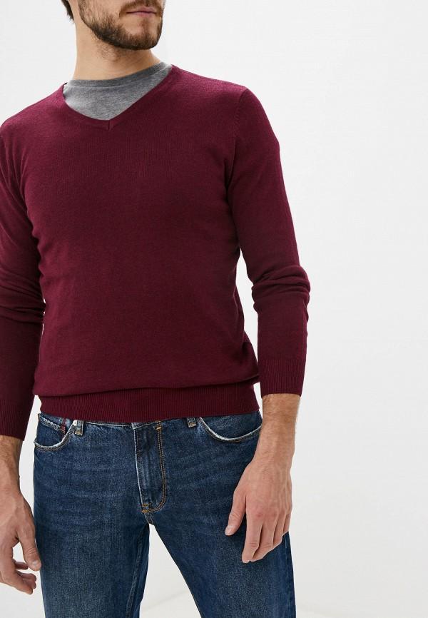 мужской пуловер colin's, бордовый