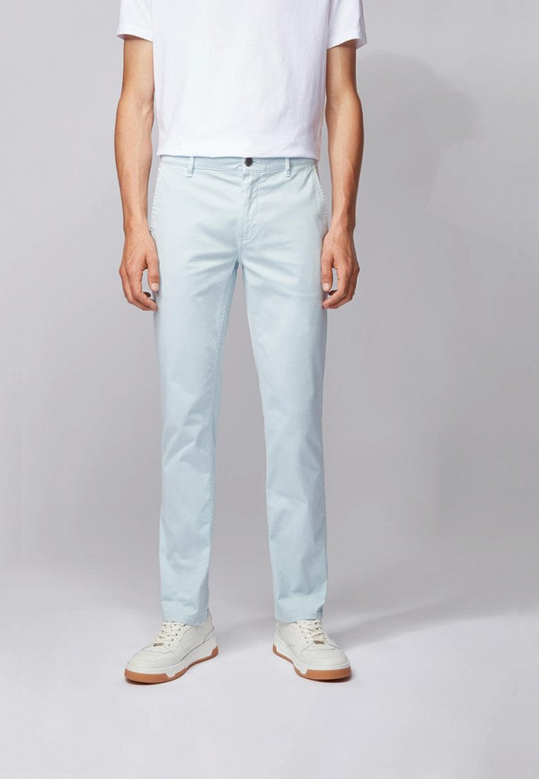 мужские брюки чинос boss, голубые