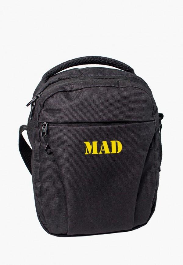мужская сумка mad | born to win, черная