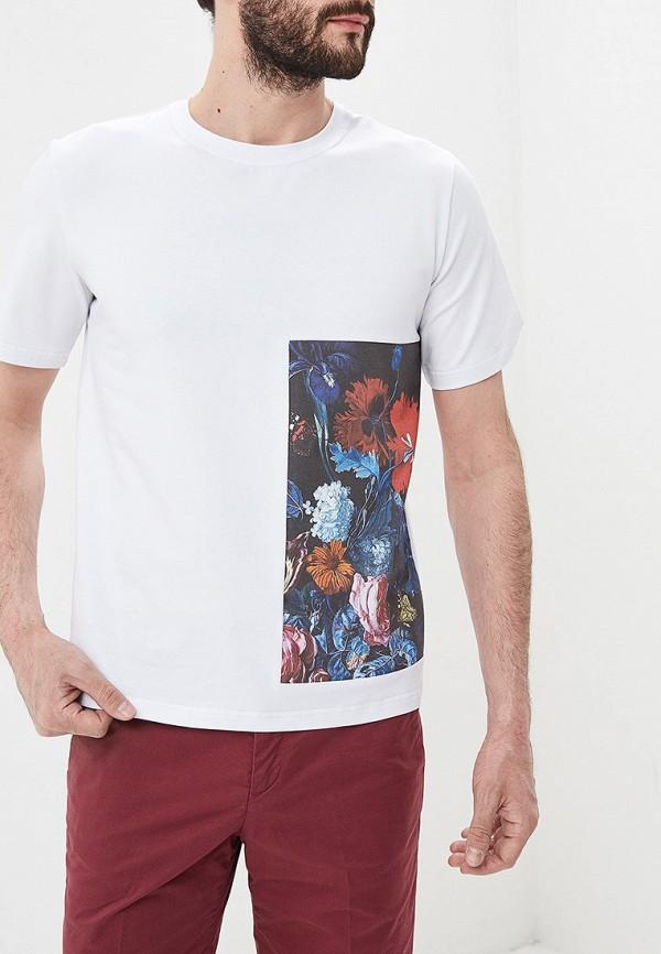 мужская футболка с коротким рукавом eniland, белая