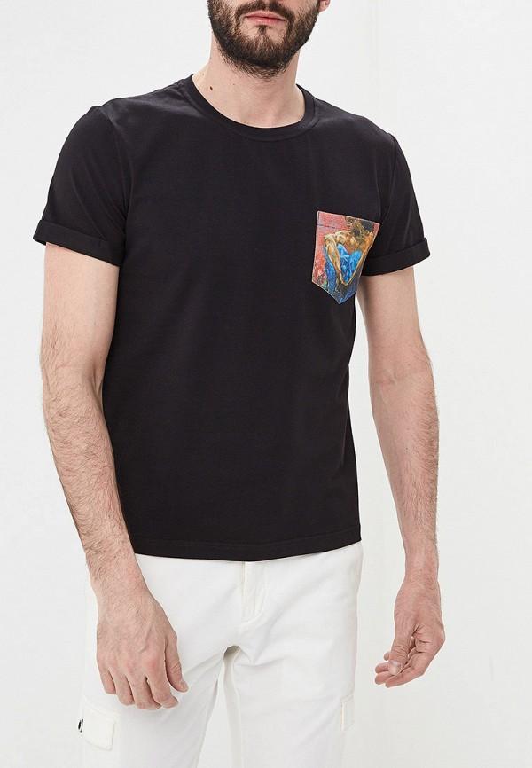 мужская футболка с коротким рукавом eniland, черная
