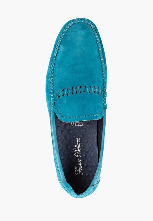 Мокасины Franco Bellucci цвет бирюзовый  Фото 4