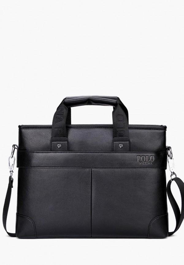 мужская сумка vicuna polo, черная