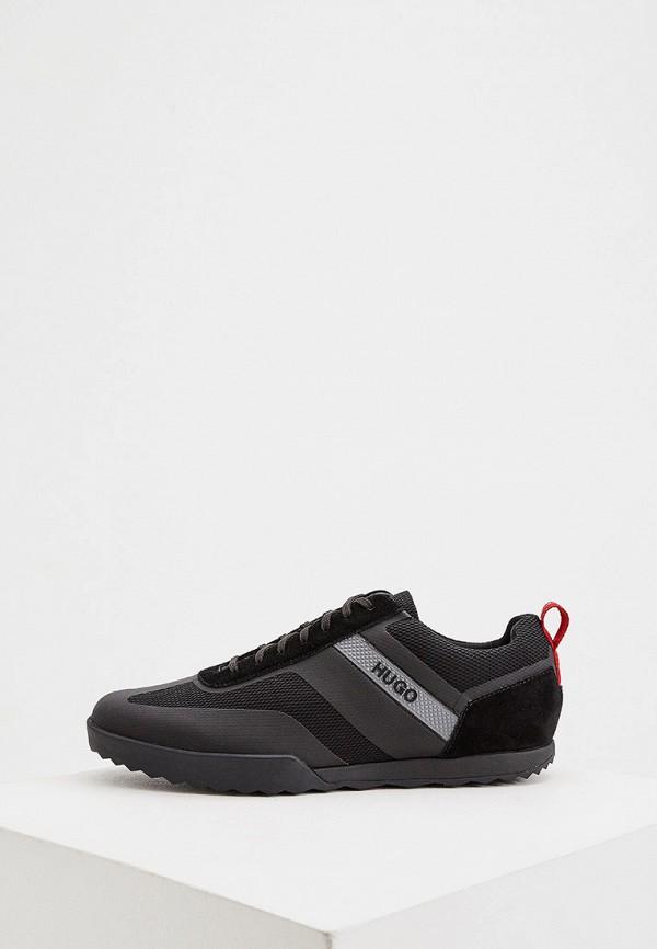 мужские низкие кроссовки hugo, черные