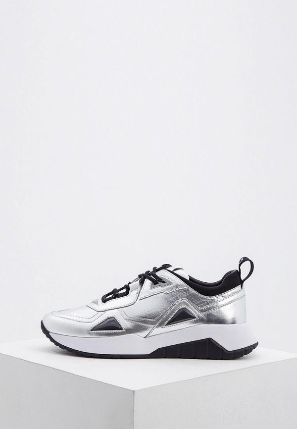 мужские низкие кроссовки hugo, серебряные